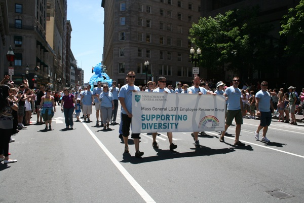 Mass General LGBT Employee Resource Group supporting diversity!