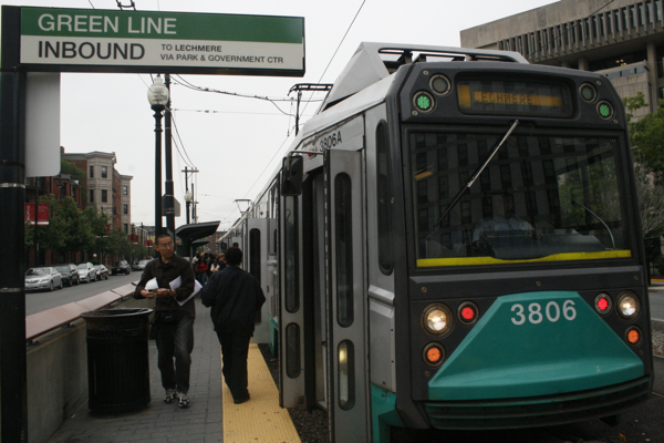 Green Line Outbound Brigham Circle; Photo by Allan-Michael Brown