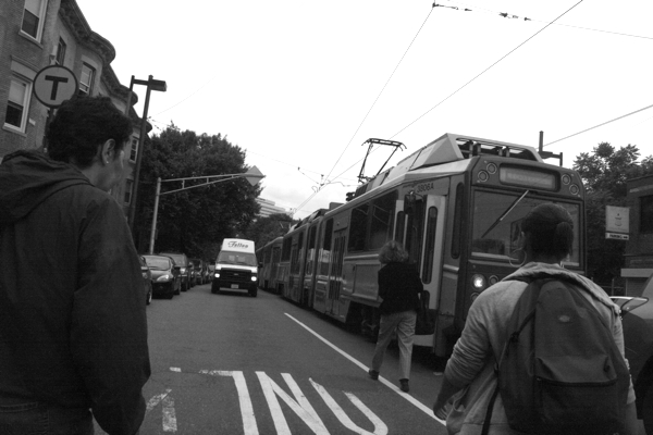 Scenes of the T riding in the street will be no more. The T will not only lose its trolley charm but also a route to the VA Medical Center