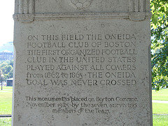 First Organized Football Game in America