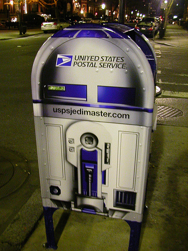 USPS mailbox in Boston