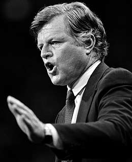 Senator Ted Kennedy succumbed to brain cancer today, dying at age 77