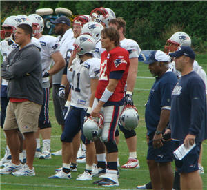 Tom Brady at 2010 Training Camp