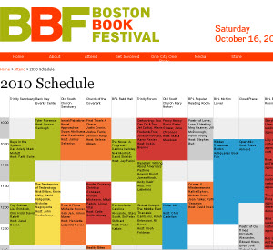 Boston Book Festival Schedule
