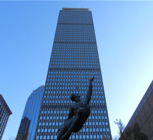Boston's Prudential Building Statue Side